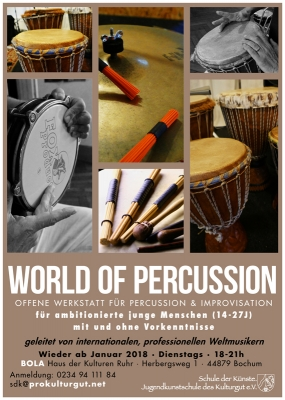 World Of Percussion Poster