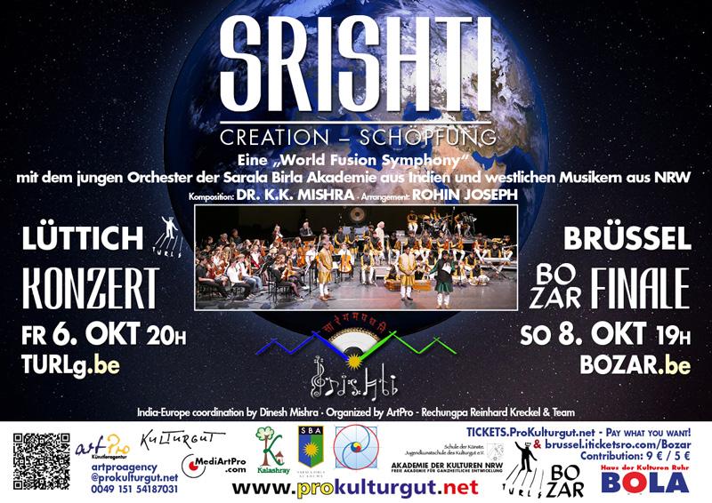 Srishti European Concert Tour Bruxelles, Liège
